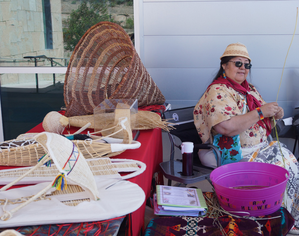 California Trail Heritage Alliance Board Member Leah Brady will display her baskets at this year's Native Market.