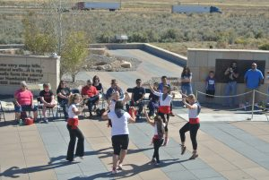 The Elko Arinak Basque Dancers, performing at the California Trail Interpretive Center on Oct. 1, 2016.