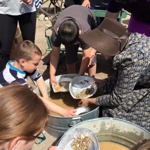 California Trail Center gold panning
