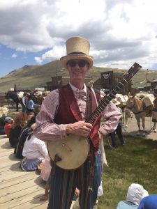 Chris Bayer in Bodie, California. Bayer will perform Gold Rush songs at the California Trail Interpretive Center on Sept. 24.