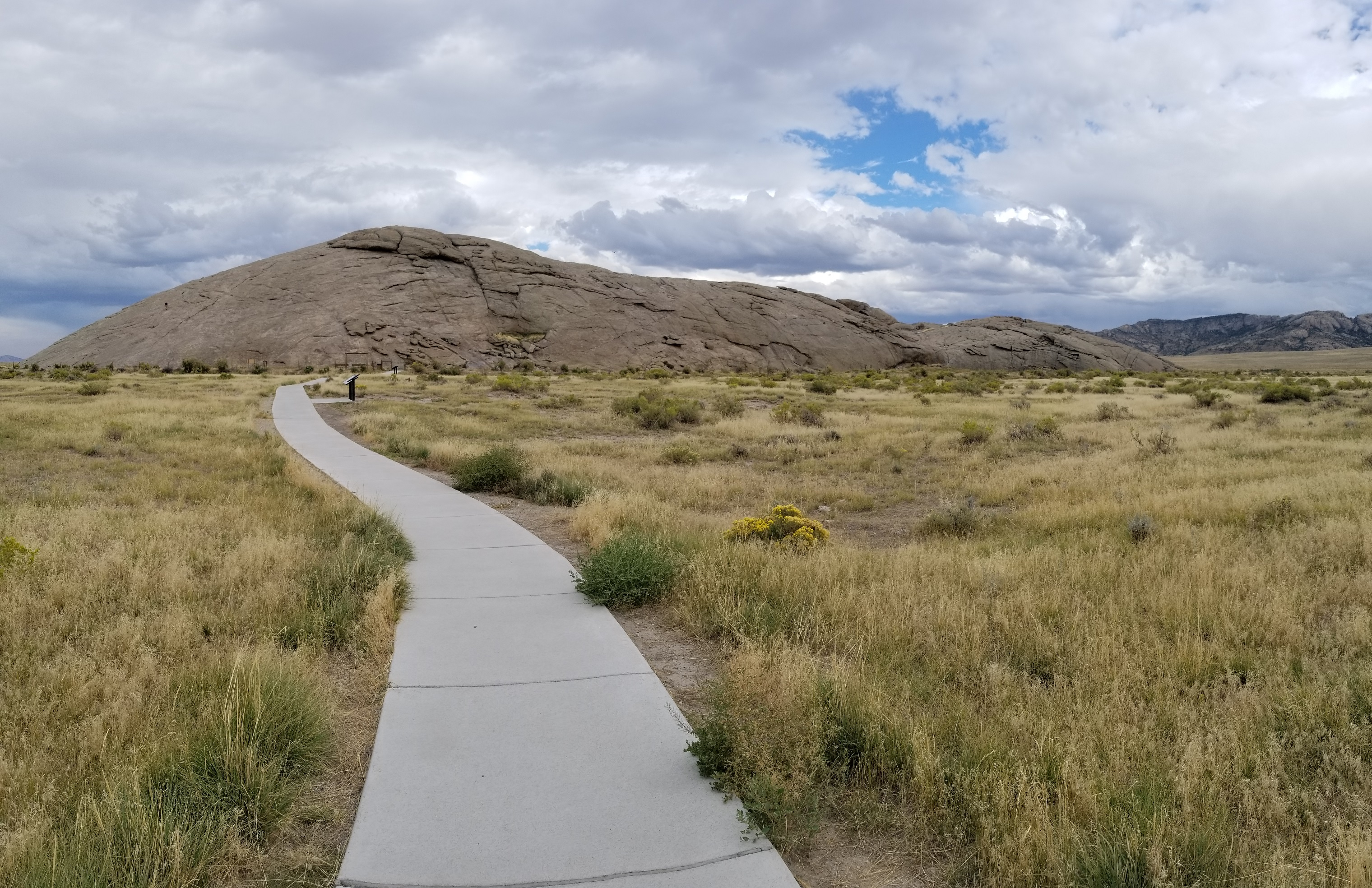 Independence Rock, in Wyoming, was a prominent landmark on the California Trail. Photo by Erika Schaubach.